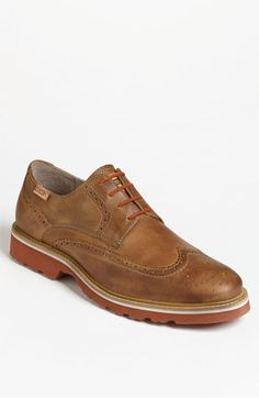 $155, Brown Leather Brogues: PIKOLINOS Glasgow Wingtip Brown 75 8us 41eu. Sold by Nordstrom. Click for more info: https://lookastic.com/men/shop_items/219948/redirect