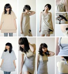 recycled T-shirt fashions - like the top dress!