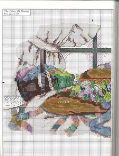 """""""The Fabric Of Dreams"""" cross stitch pattern by Paula Vaughan. Found on manualidades.facilisimo.com"""