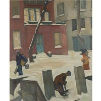 Winter in Greenwich Village by William Auerbach Levy