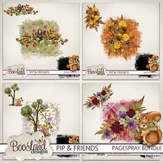 #Pip and Friends Page Spray Bundle by #theStudio #digiscrap