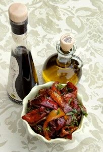 Roasted Peppers With Basil and Balsamic Vinegar, simply fantastic!  http://oracibo.com/recipe/roasted-peppers-vinegar/