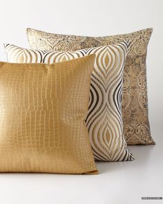 Shop luxury pillows and throw pillows at Horchow. Browse our luxurious selection of decorative and throw pillows in a variety of sizes and styles. Gold Pillows, Accent Pillows, Throw Pillows, Decorative Cushions, Scatter Cushions, Pillow Fabric, Patchwork Pillow, Soft Furnishings, Home Textile