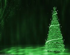 Green Christmas Tree Background Wallpaper