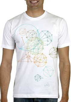 Geometric Men's tshirt by nonfictiontees on Etsy