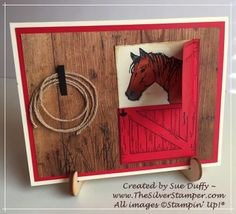 Sharing paper-crafting and card-making ideas with fans of Stampin' Up!® and its products. Fun Fold Cards, Folded Cards, Horse Cards, Horse Birthday, Hand Stamped Cards, Stamping Up Cards, Animal Cards, Card Tutorials, Masculine Cards