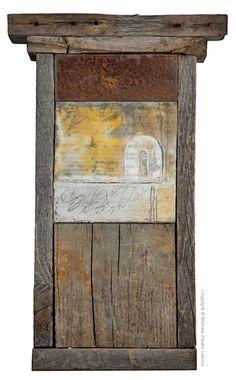 Michèle Renée Ledoux.....love the combination rust ,wood