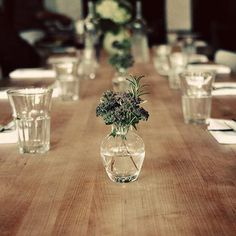 A simple table setting from Sitka & Spruce in Seattle, via Remodelista.