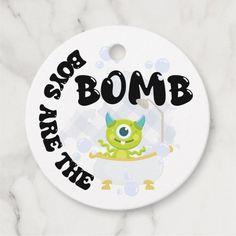 Boys are the bomb favor tag, cocoa bomb, bath bomb favor tags