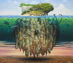 surreal art by Jacek Yerka