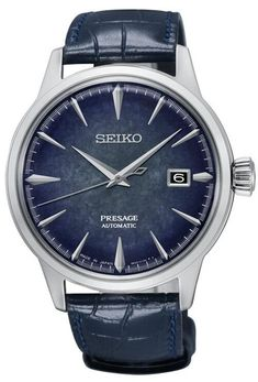 Seiko Watch Presage Cocktail Automatic #add-content #bezel-fixed #bracelet-strap-leather #brand-seiko-presage #case-depth-11-8mm #case-material-steel #case-width-40-5mm #classic #date-yes #delivery-timescale-call-us #dial-colour-blue #discount-code-allow #gender-mens #limited-edition-yes #movement-automatic #new-product-yes #official-stockist-for-seiko-presage-watches #packaging-seiko-presage-watch-packaging #price-on-application #style-dress #subcat-presage #supplier-model-no-srpc01