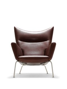 Limited Edition Leather Wegner Wing Chair