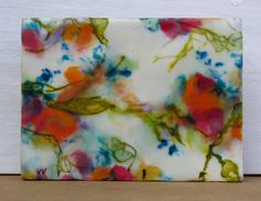 Original Encaustic Flower Painting  Beeswax Art  by KLynnsArt, $55.00