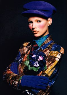 Kate Moss by Patrick Demarchelier, Harper's Bazaar  September 1992. Clothing by Christian Lacroix.