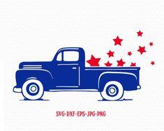 Patriotic vintage old truck svg,  Fourth of July SVG, 4th of July Svg, Patriotic SVG, America Svg, C