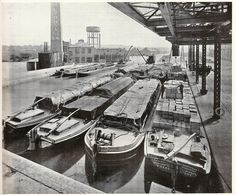 J Lyons, Greenford - canal basin on the Grand Union Canal, 1932