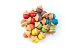 Rainbow Sorting Acorns  Waldorf Preschool Toys  door CakeInTheMorn, $15,00
