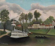 Henri Rousseau - The Laundry Boat of Pont de Charenton (Le Bateau-lavoir du Pont de Charenton)