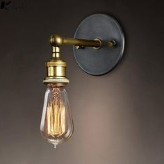 Modern Country Style Brass Wall Lamp – Warmly