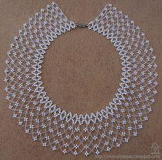 Az Idei Szálkai Táborban Egyik Társunk M - Diy Crafts Seed Bead Necklace, Seed Bead Bracelets, Bead Jewellery, Seed Bead Jewelry, Beading Tutorials, Beading Patterns, Beaded Necklace Patterns, Handmade Beaded Jewelry, Bijoux Diy
