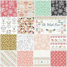 Oh What Fun Fat Quarter Bundle in Sweet ~ Love this fabric line!