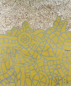ALEXIS AKRITHAKIS (1939-94) UNTITLED signed and dated 2.8.70 acrylic on canvas, 120 by 100cm. Greek Paintings, True Art, Turin, Contemporary Artists, Art Inspo, Greece, Kids Rugs, Canvas, Abstract