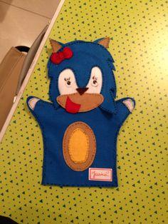 Fantoche Sonic da Oficina Infantil.