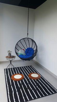 Lil 🚬 corner #balcony #terrace #hangingchair