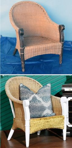 Upcycle a wicker chair // DIY expert Hannah Kate Flora