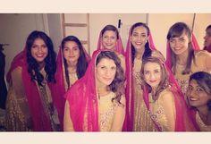 Punjabi wedding bridesmaids
