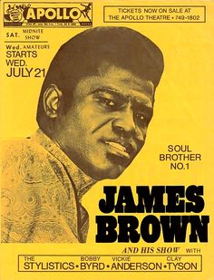 James Brown Concert Poster
