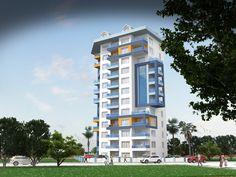 Wohnung 1+1, 2+1, 3+1, Penthäuser 4+1 in Mahmutlar/Alanya