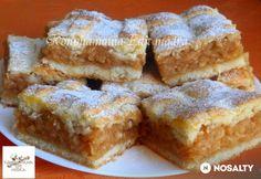 Fantastický koláčik, vyskúšajte ho napríklad z nových jabĺčok. Hungarian Cake, Hungarian Recipes, Bakery Recipes, Dessert Recipes, Cooking Recipes, Apple Recipes, Sweet Recipes, Pretzels Recipe, Bread And Pastries