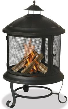 Enjoy backyard entertaining even in the winter with the Uniflame outdoor wood burning fireplace. This fireplace will keep everyone comfortable. Outdoor Fire, Outdoor Living, Outdoor Stone, Outdoor Spaces, Fire Pit Safety, Outdoor Wood Burning Fireplace, Faux Fireplace, Porch Fireplace, Portable Fireplace