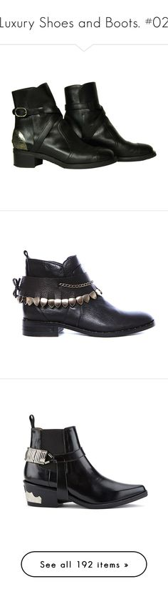 """""""Luxury Shoes and Boots. #02"""" by alejandramalagon ❤ liked on Polyvore featuring shoes, boots, ankle booties, ankle boots, leather boots, short black boots, black booties, leather bootie, zapatos and leather ankle boots"""