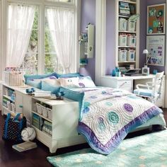 Lavender and Turquoise! Love it!!