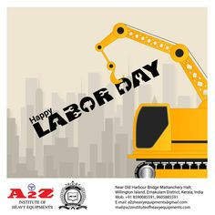 "Labour is the ladder through which human dignity and creative excellence are expressed."" Happy International Labor Day, everyone! Labour Day, Human Dignity, Training School, Heavy Equipment, Ladder, Creative, Happy, Stairway, Ser Feliz"