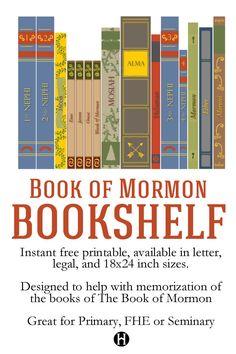 Book of Mormon Bookshelf printables