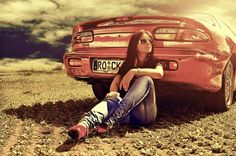 Omg a girl that can actually pose with a car and not look like a total fricking slut.