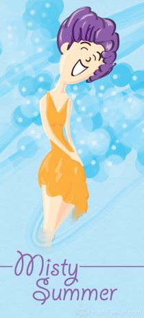 Misty Summer - Vector  Illustrated by Heather Martinez