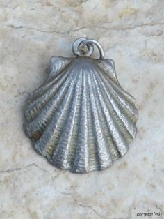Vintage Sterling Silver Scallop Shell Charm