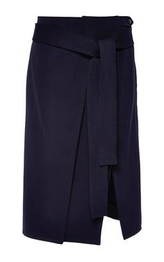 Technical Wool And Cotton Twill Skirt by Nina Ricci for Preorder on Moda Operandi