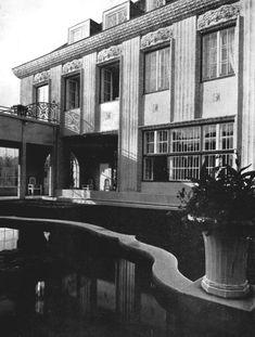 Josef Hoffmann, Gartenseite der Villa Ast in Wien, 1912