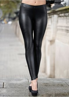 legging femme effet cuir
