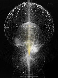 Tatiana Plakhova has created some rather stunning works of art centered around data visualization.: