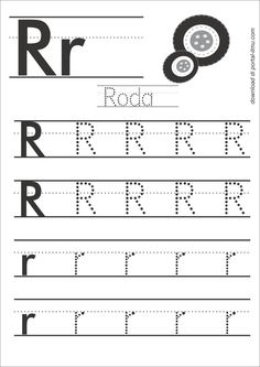 r Number Words Worksheets, Alphabet Writing Worksheets, Letter Worksheets For Preschool, English Worksheets For Kids, Preschool Writing, Kindergarten Math Worksheets, Phonics Worksheets, Preschool Learning Activities, Kids Writing