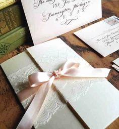 Wedding Invitation Gatefold Love No. 3 by DesignsByRobynLove