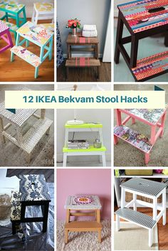 My friend has new kitchen with high cupboards and need a stool to reach them. I have gathered together, 12 great ideas for hacking the IKEA…