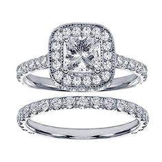 Pavé Princess Bridal Set Under $4000 | Engagement Ring Voyeur 💍