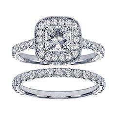 Pavé Princess Bridal Set Under $4000 | Engagement Ring Voyeur 💍